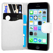 Luxury Magnetic Flip Stand Book Wallet PU Leather Case Cover in White