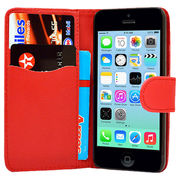 Luxury Magnetic Flip Stand Book Wallet PU Leather Case Cover in Red