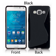 S-Line Soft Silicon Gel Case For Samsung Galaxy A5 in Black