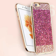 Glitter Tpu Gel Case Cover Compatible For iPhone 6/6S - Pink