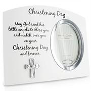 White Christening Day Photo Frame Gift