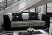 Buy Belle Dior 3 Seater Sofa Fabric Crushed Velvet at Furniture Stop