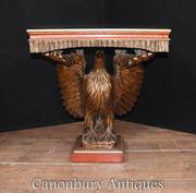 Antique Chinese Lacquer American Eagle Console Table Classical Chinois