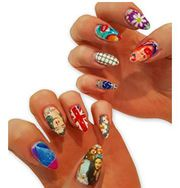 Artificial Nail Art Acrylic Printed Stickers for Girls