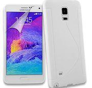 Samsung Galaxy Note 4 White S line Gel Case