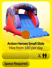 Action Heroes Garden Slide Bouncy Castle Hire Guildford,  Surrey