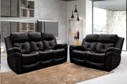 Acquire Fabrizio 3+2 Seater Leather Recliner Sofa Set at Low Price
