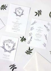 Personalised Floral Crest Wedding Set