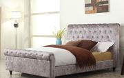 Enhance Look of Bedroom with Stella Chesterfield Fabric Double Bed