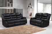 Get Beautiful 2+3 Seater Bonded Leather Recliner Sofa Set