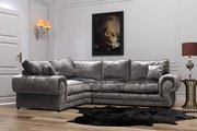 Acquire Perla Crushed Velvet Corner Sofa for Living Room at a Reasonab