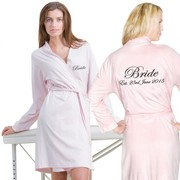 Custom Jersey Lightweight Bathrobe with Front & Back Embroidery