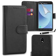 Connect Zone庐 Premium PU Leather Flip Wallet Case Cover Pouch For Sams