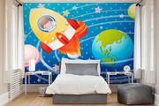 Let your Child Travel to Space by adding Astronaut Wallpaper