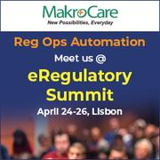 MakroCare at eRegulatory Summit at Lisbon,  on 24 - 26 April 2018