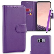 Connect Zone® Premium PU Leather Flip Case Cover Samsung Galaxy S8