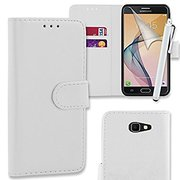 White Wallet Case Cover Pouch For Samsung Galaxy J5 (2017)