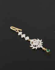 Buy Online American Diamond Maang Tika|Anuradha Art Jewellery