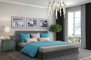 Stunning Modern Storage Ottoman Gas Lift Fabric Bed