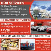 KJ Cargo Services | International Shipping Companies London