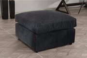 Extremely Soft Logan Fabric Jumbo cord Footstool