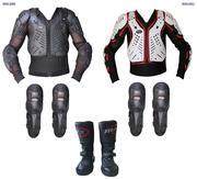 Kids Moto-Cross MAXFIVE Knee Shin Body Armor Jacket