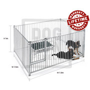 Galvanised Puppy Pen 5cm Bar Heavy Duty By Dog Run Panels