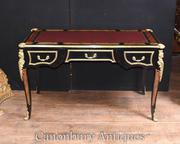 Boulle Desk Bureau Plat Marquetry Inlay
