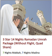 3 Star 14 Nights Ramadan Umrah Package (Without Flight,  Quad Share)