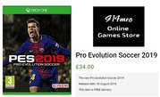 Buy Pro Evolution Soccer 2019 Xbox one Video Games at Affordable Rates