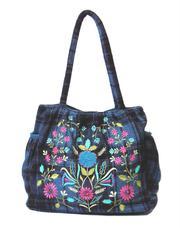 Check Tartan fabric Bags...Gorjus London