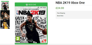Buy Only For £24.00 Ultimate Edition NBA 2K19 Xbox One Video Game