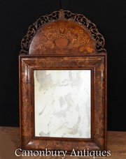 William and Mary Mirror - Cushion Mirrors Marquetry Inlay