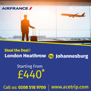 Special flights London-Heathrow to johannesburg
