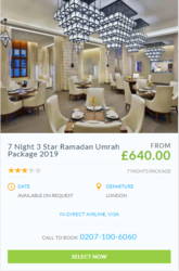 cheap ramadan umrah packages 2019