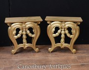 Pair Rococo Shelf Supports - Wall Hanging Table