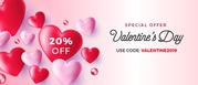 Valentine's Day Offer - 20 percent off on purses and handbags
