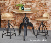 Indian Hub Cosmo Industrial Wooden Chair (Pair)