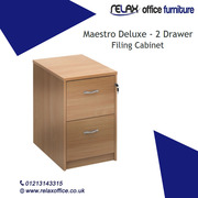 Two Drawer Lockable Filing Pedestal Cabinet