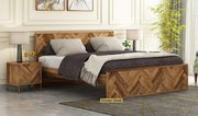 Solid Wood Super King Size Bed UK @ Wooden Street
