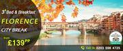 Save 47% on Florence City Breaks starting @£139pp onwards