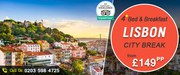 Book Now Lisbon City Breaks Just@£149pp