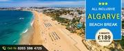 Incredible Savings in All Inclusive Algarve Beach Break -Save upto 39%