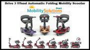 Purchase Drive 3 Wheel Automatic Folding Mobility Scooter Online