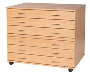 Flat pack plan chest