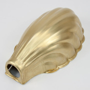 Raw Brass Clam Shell Shade At Spares2You