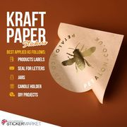 High-Quality Kraft Paper Stickers UK