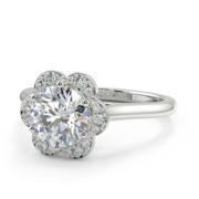Clover - Diamond Engagement Ring - CBJ-CL-WG-RD-003