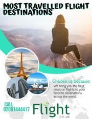Most travelled destinations