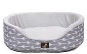 Bella - Grey Soft Dog Bed
